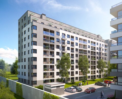Wizualizacja Inter-Bud Developer Sp. z o.o. Sp. k. inwestycja os. Bohaterów Września Piasta Towers - bud. 6