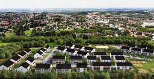 Panorama Krakowa - domy