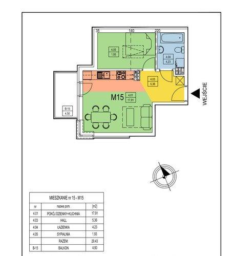 Plan multidom mieszkanie w inwestycji ul. Bieżanowska 122D Lilli Wenedy Park - Dom pod Magnolią