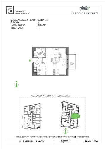 Plan Tętnowski Development mieszkanie w inwestycji ul. Pasteura Osiedle Pasteura - II etap