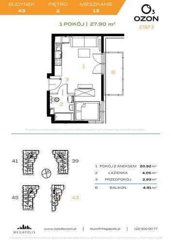 Plan Megapolis mieszkanie w inwestycji ul. Banacha Osiedle OZON Etap 3