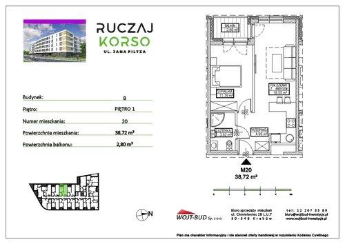 Plan Wojt Bud Sp. z o.o. mieszkanie w inwestycji ul. Jana Piltza Ruczaj Korso