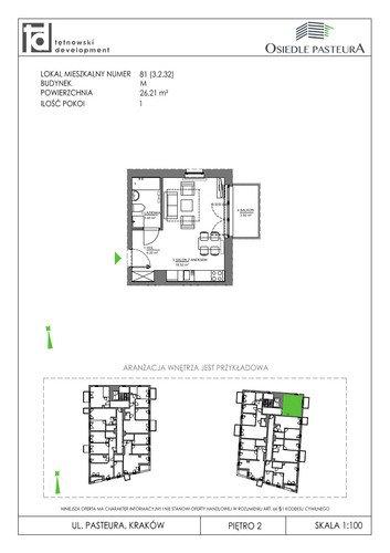 Plan Tętnowski Development mieszkanie w inwestycji ul. Pasteura Osiedle Pasteura - III etap