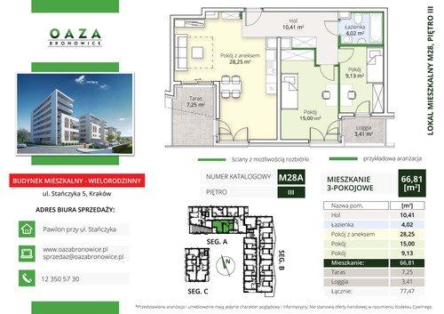Plan Oaza Bronowice Etap III Sp. z o.o. mieszkanie w inwestycji ul. Stańczyka 5 Oaza Bronowice