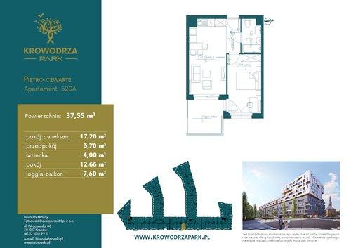 Plan Tętnowski Development mieszkanie w inwestycji ul. Lea / al. Kijowska Krowodrza Park - bud. A