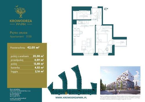 Plan Tętnowski Development mieszkanie w inwestycji ul. Lea / al. Kijowska Krowodrza Park - bud. B
