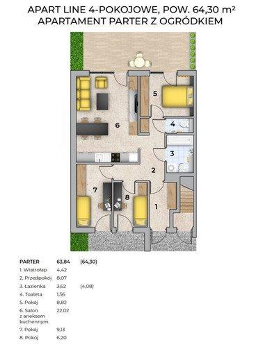 Plan Techniq mieszkanie w inwestycji Grabówki, Wieliczka Panorama Krakowa - mieszkania