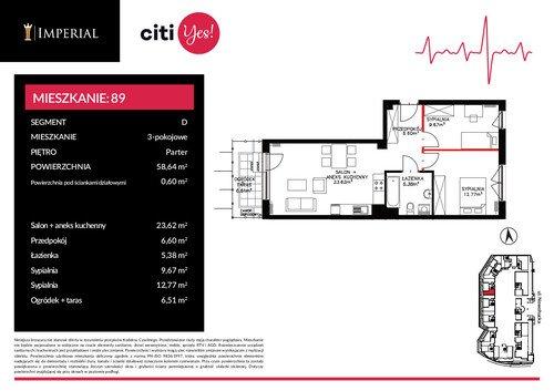 Plan Imperial Capital Sp. z o.o. mieszkanie w inwestycji ul. Nowohucka 46 Imperial Citi Yes