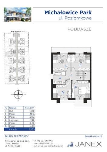 Plan Firma Janex Sp. z o.o. dom w inwestycji Michałowice, ul. Poziomkowa Michałowice Park - I etap (stan deweloperski)