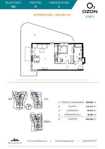 Plan Megapolis mieszkanie w inwestycji ul. Banacha Osiedle OZON Etap 4